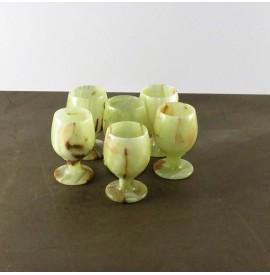 Set Bicchieri Onice chiaro