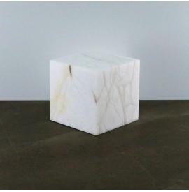 Lampada cubo alabastro 20x20
