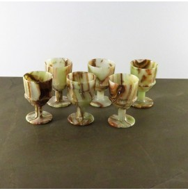 Set bicchieri in Onice