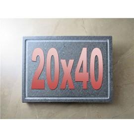 Lava stone grill pan 20x40