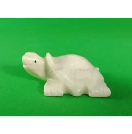 Tartaruga in onice bianco