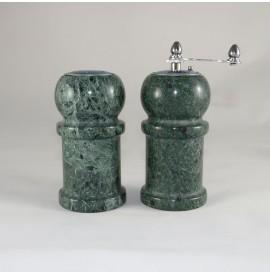 sale e pepe in marmo verde
