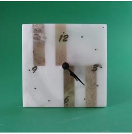 Orologio alabastro 14x14