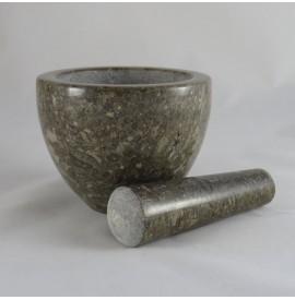 Mortaio tazza in marmo marrone