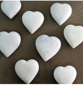Cuore in onice bianco