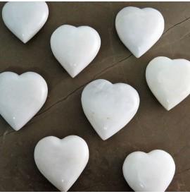 White onyx heart